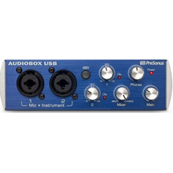 Interfaz Audio PreSonus® Audiobox USB 2 Canales